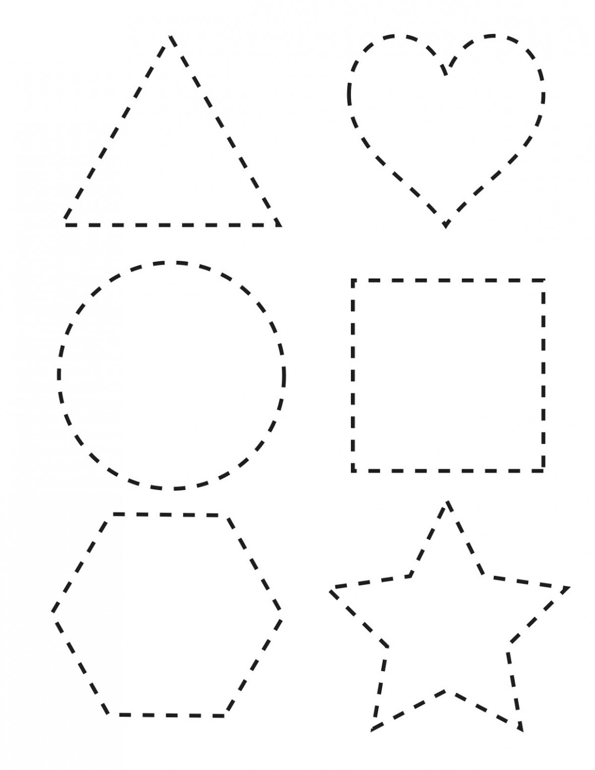 Tracing Pattern For Preschool Worksheets