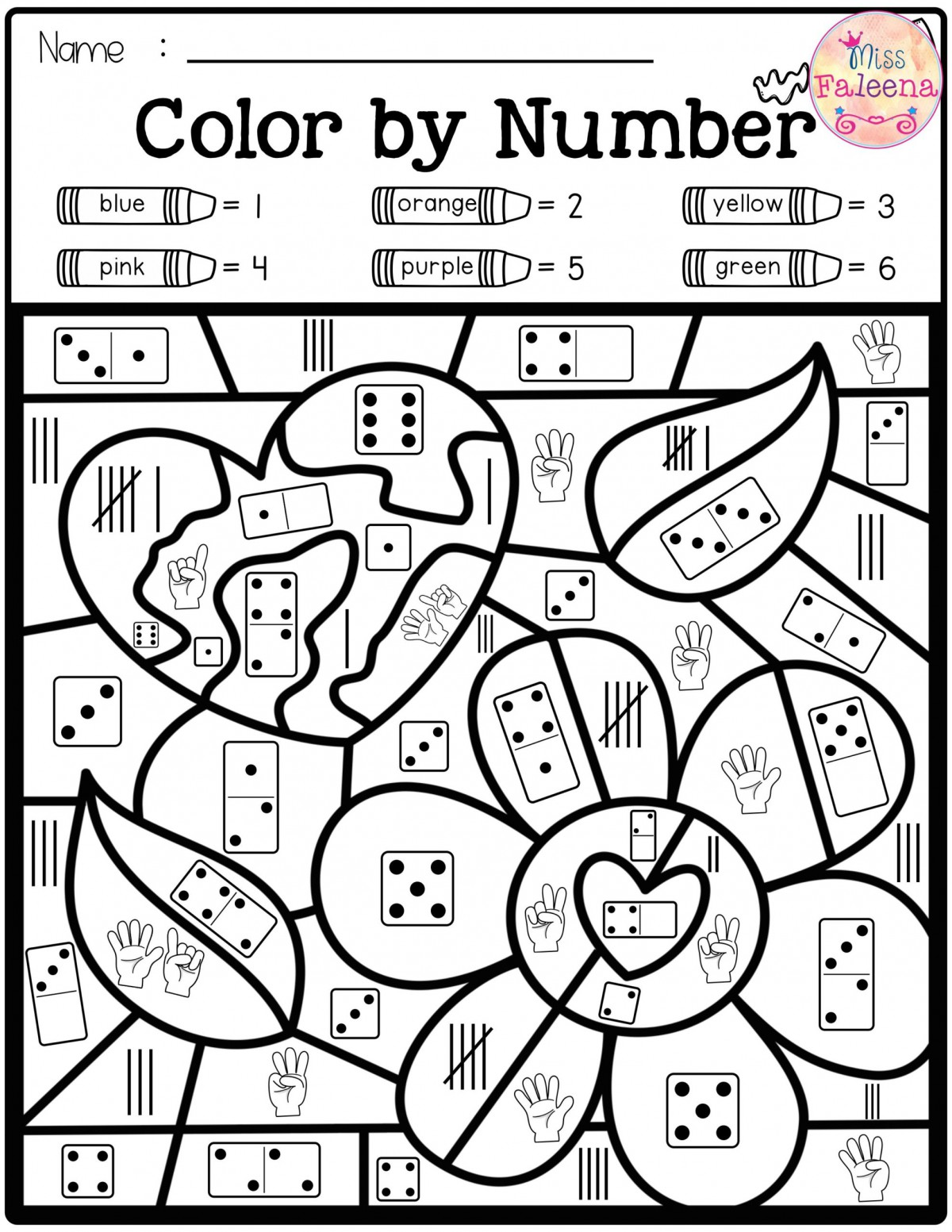 Addition Color By Number S Worksheets