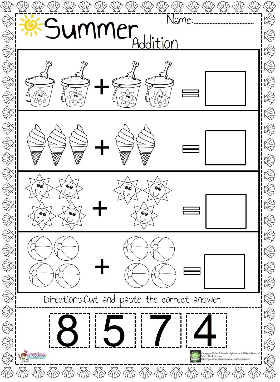 Easy Addition Worksheets