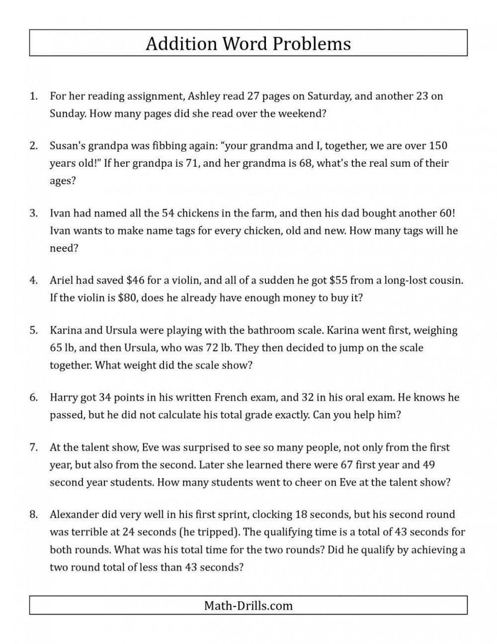 medium resolution of 4 Digit Addition And Subtraction Word Problems Worksheets   Worksheet Hero