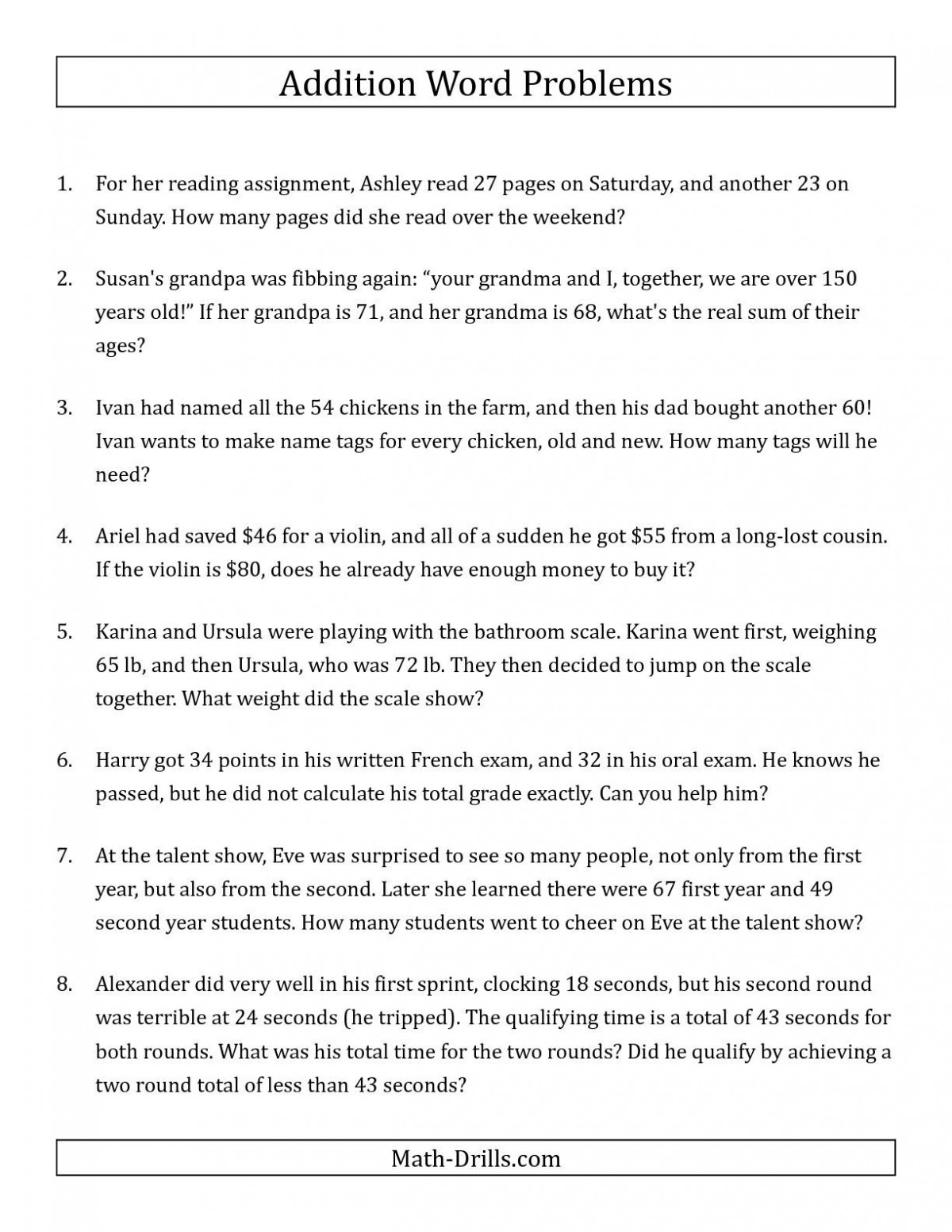 hight resolution of 4 Digit Addition And Subtraction Word Problems Worksheets   Worksheet Hero