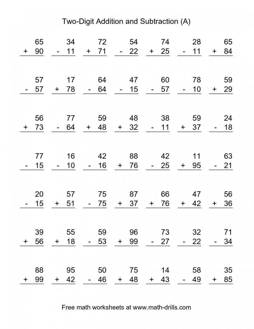 medium resolution of 2nd Grade Addition And Subtraction Worksheets   Worksheet Hero