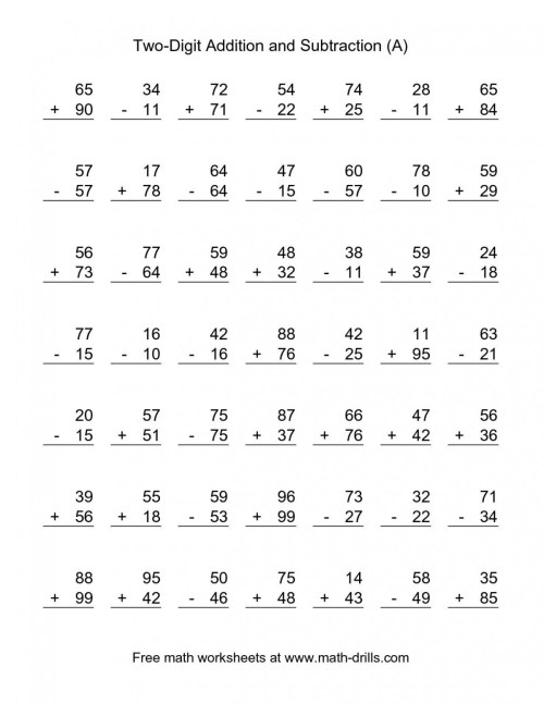 small resolution of 2nd Grade Addition And Subtraction Worksheets   Worksheet Hero
