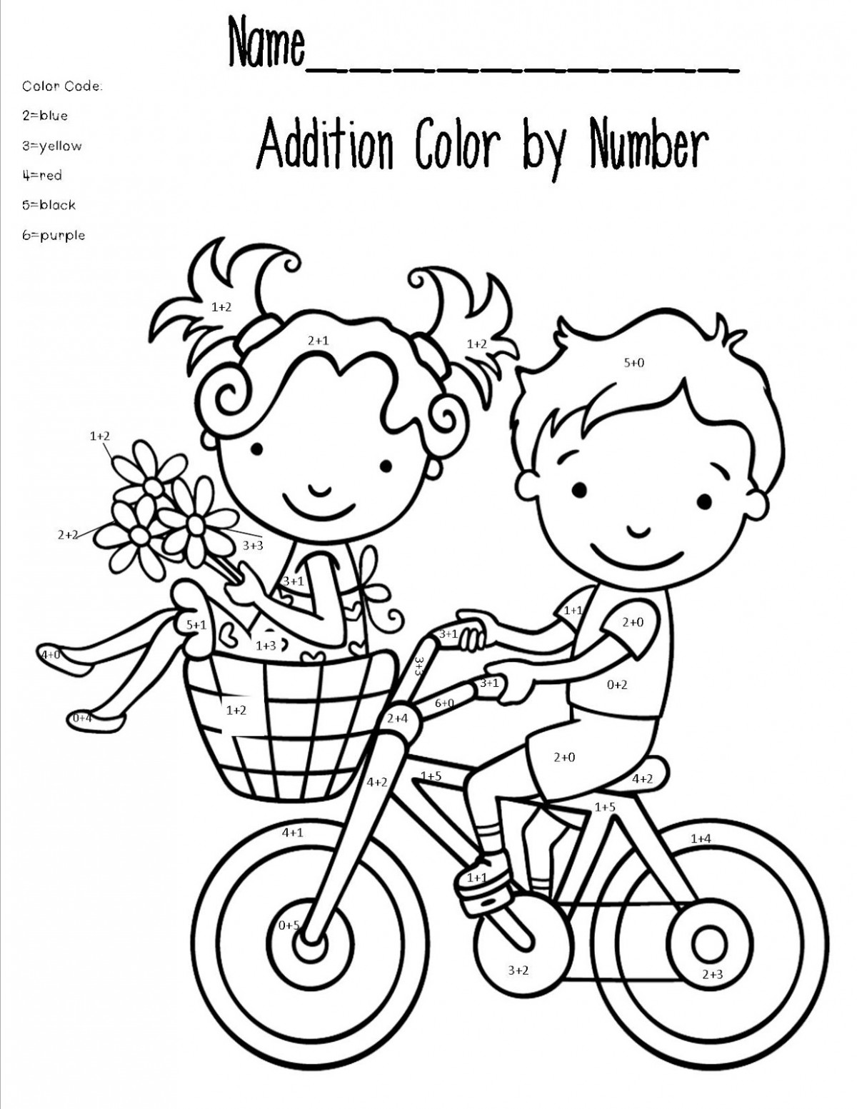 Coloring Pages Math Addition Worksheets