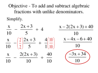 11 Best Images of Subtracting Fractions With Unlike ...