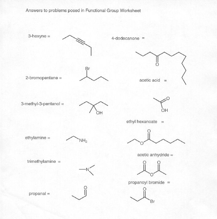 14 Best Images of Functional Groups Worksheet And Answers