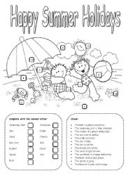 17 Best Images of Summer Worksheets For Elementary
