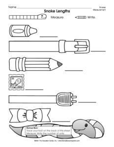15 Best Images of Kindergarten Measurement Worksheets