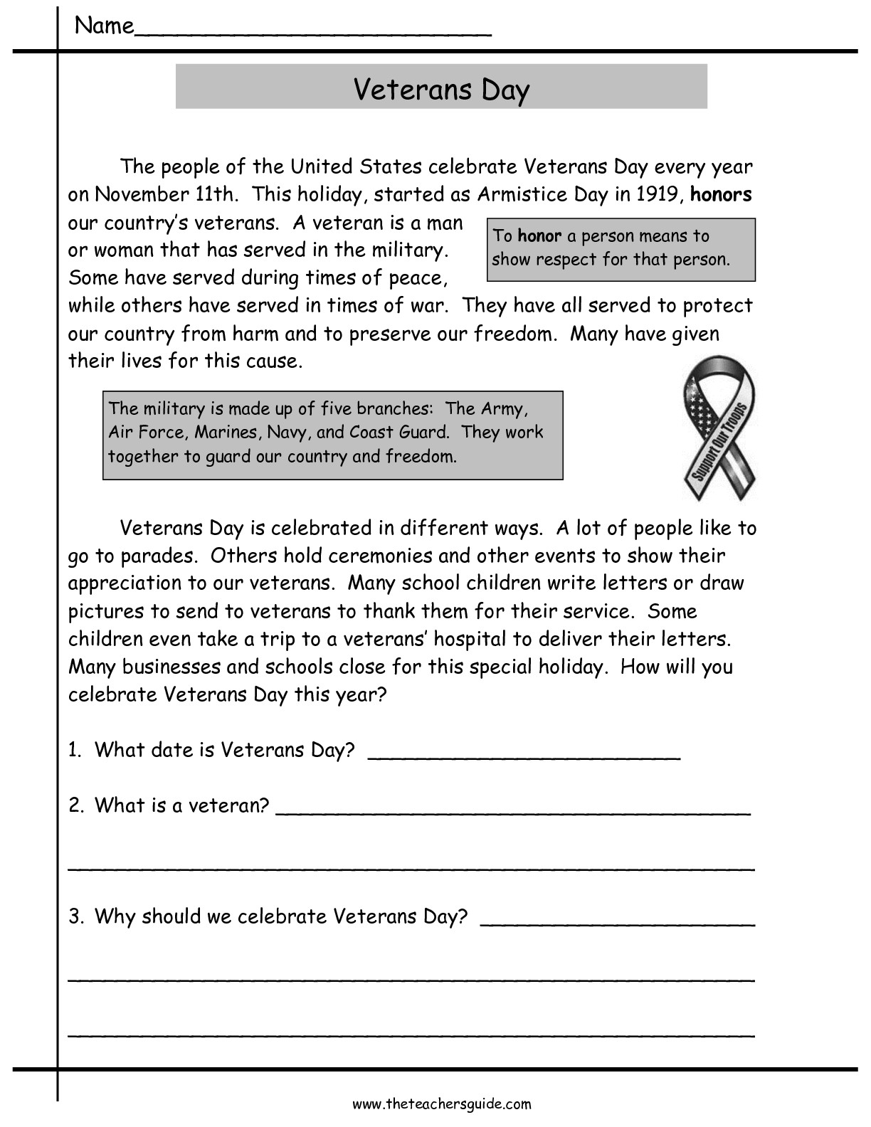 9 Best Images Of Worksheets Veterans Day Printable