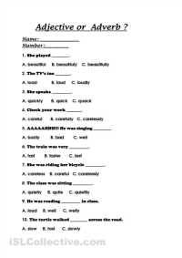 13 Best Images of Grammar Adverb Worksheets - Adverbs and ...
