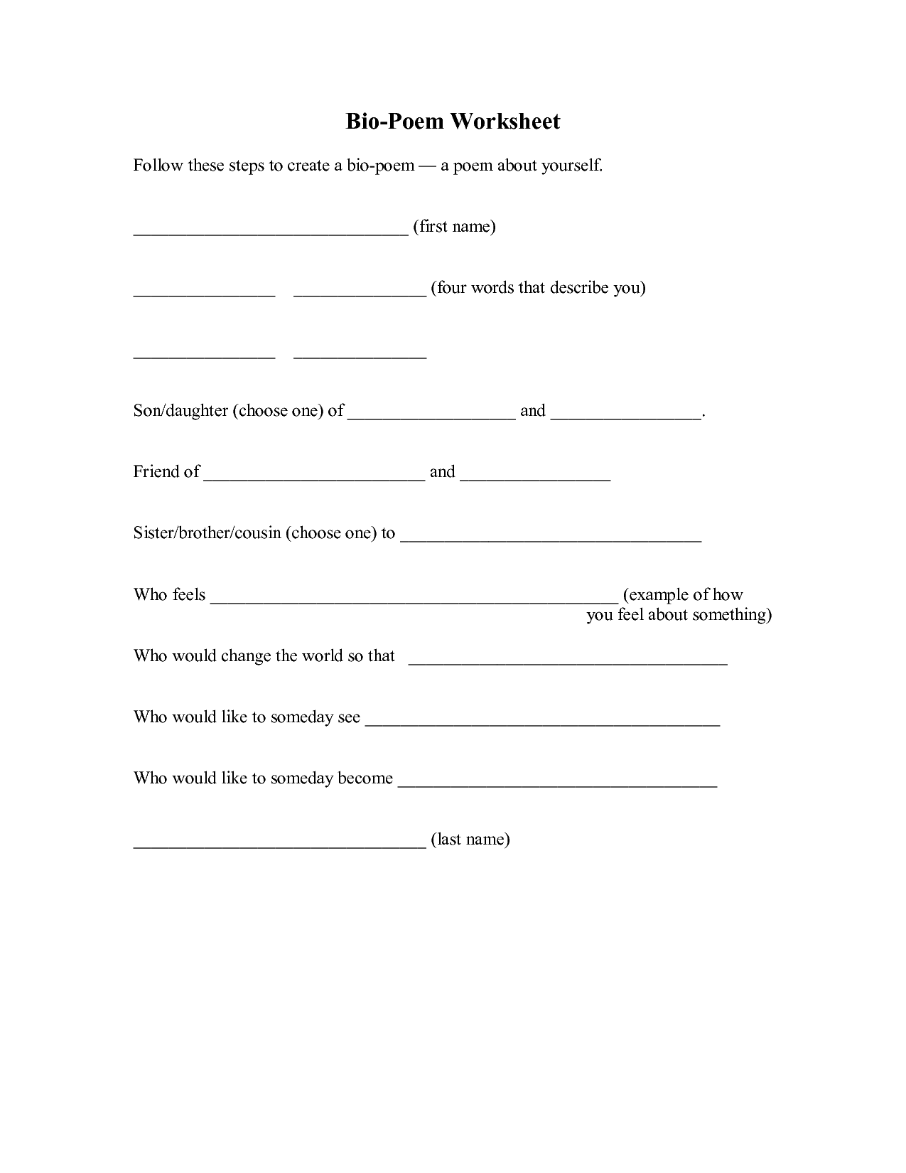 17 Best Images Of Biography Template Worksheet