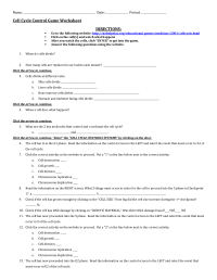 18 Best Images of Cell Cycle Worksheet - Cell Cycle ...