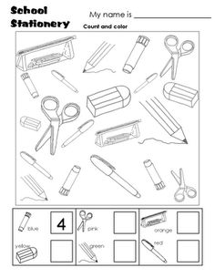 13 Best Images of Things In The Classroom Worksheet