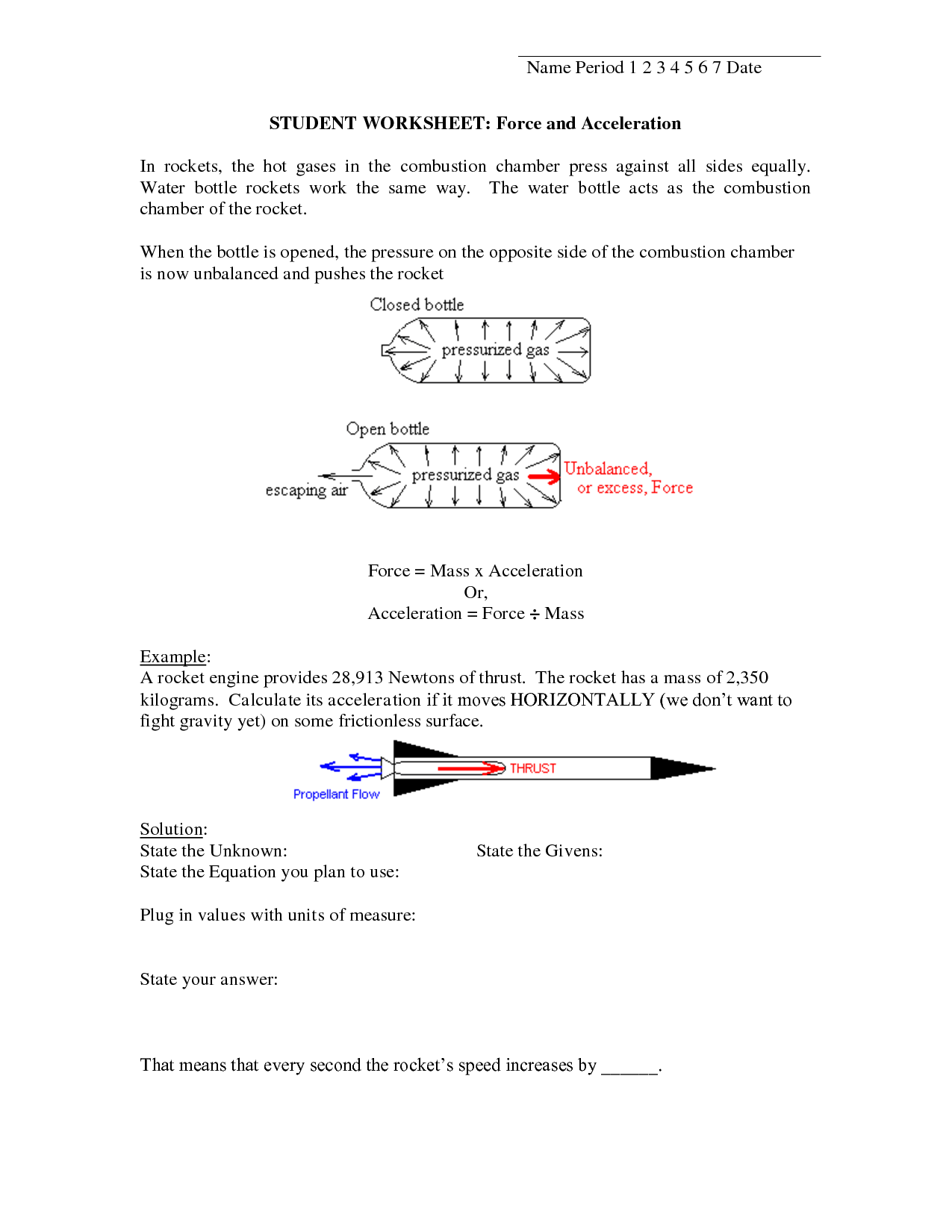 Speed And Acceleration Worksheet