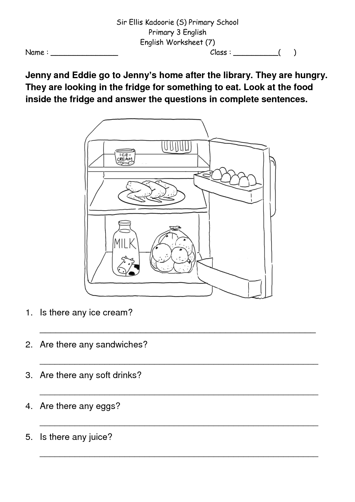 Year 4 English Worksheet Primary Resources
