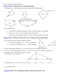 5 Best Images of Applications Of Trigonometry Worksheet ...