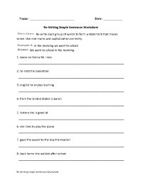 15 Best Images of First Grade Writing Complete Sentences ...