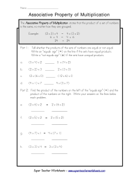Properties Of Multiplication Worksheets 6th Grade ...