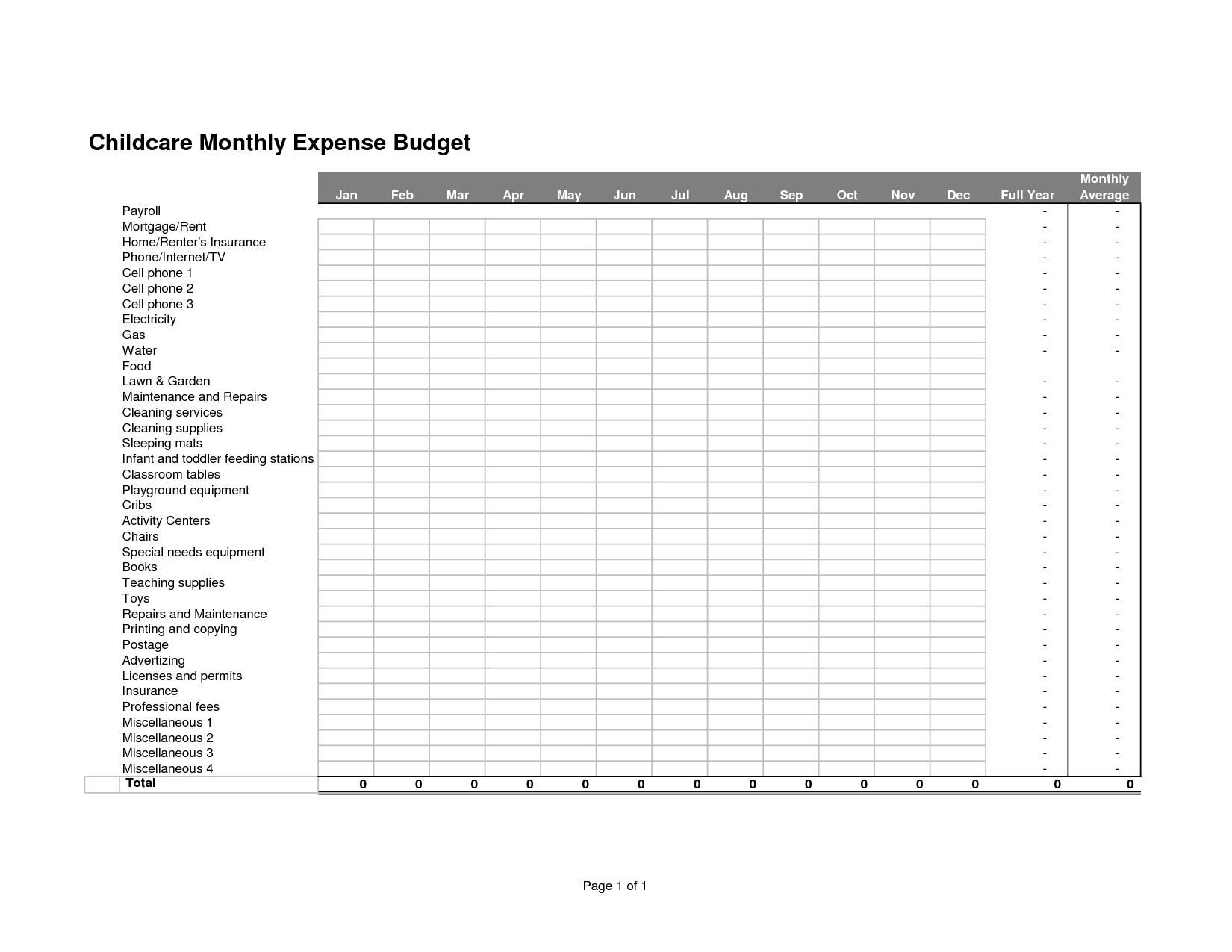 19 Best Images Of Business Budget Plan Worksheet