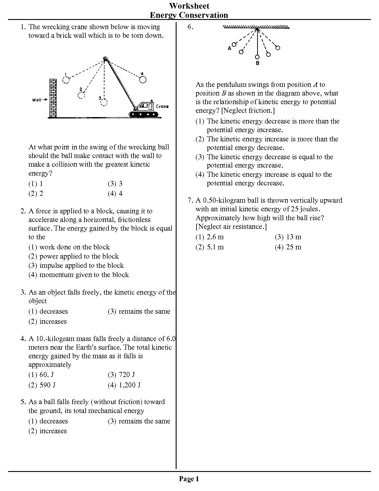 16 Best Images Of Conservation And Energy Transformation Worksheet Answer