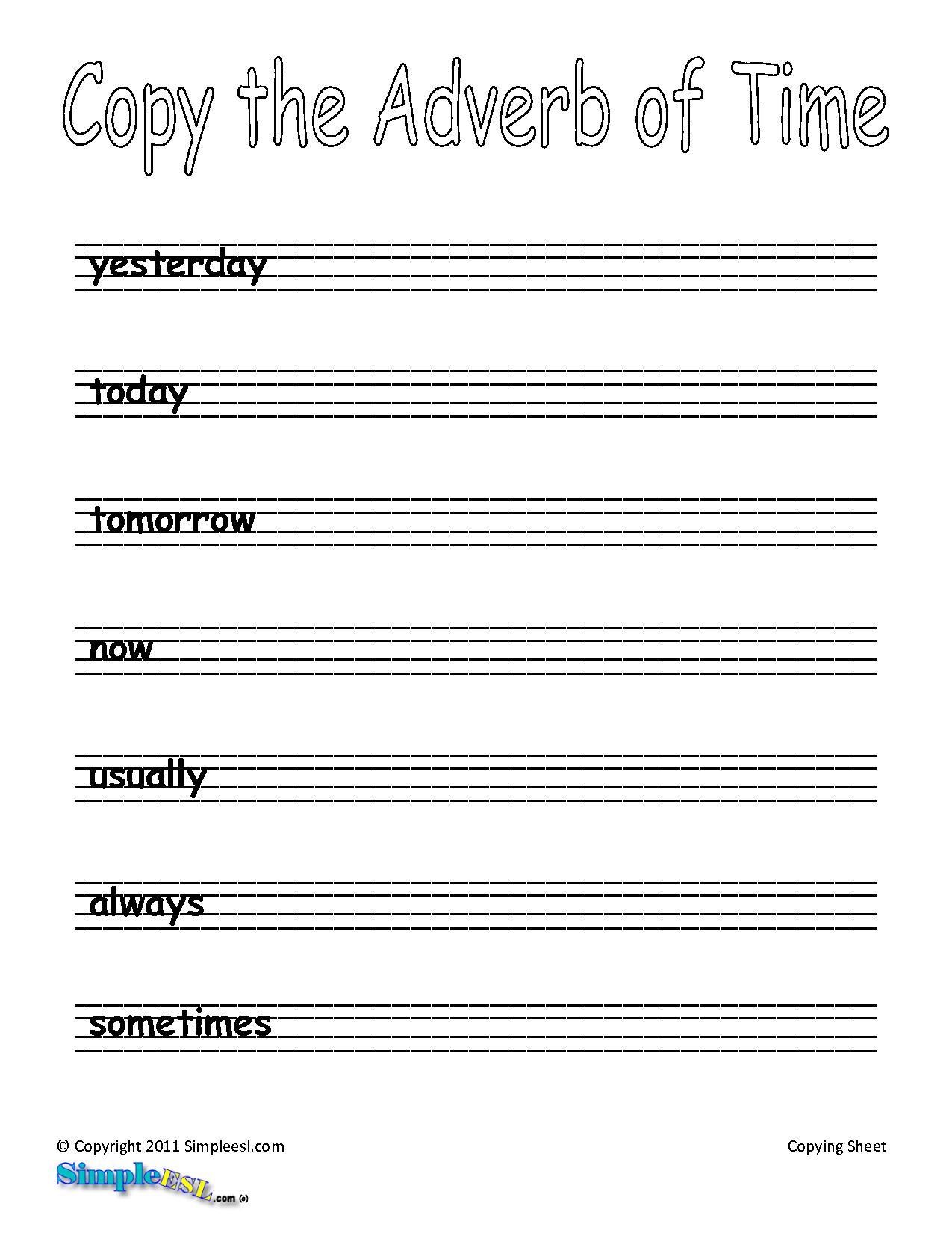 11 Best Images Of Esl Writing Exercises Worksheet