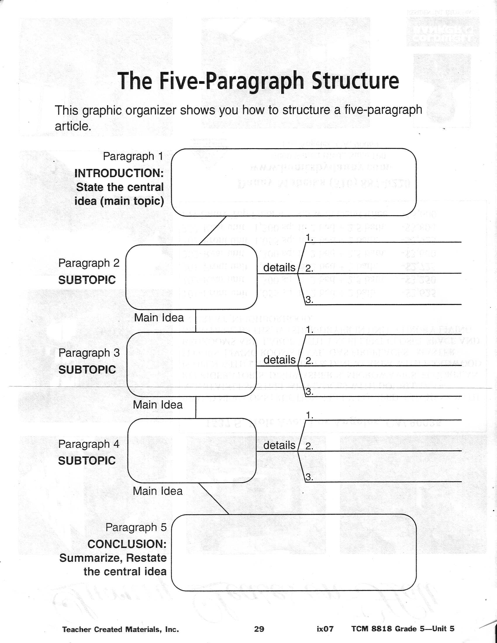 16 Best Images Of Narrative Writing Worksheets Middle