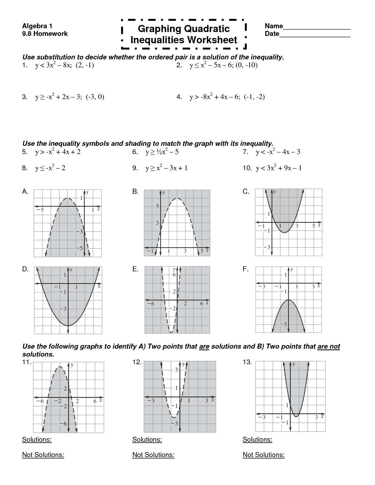 16 Best Images Of Printable Worksheets On Inequalities