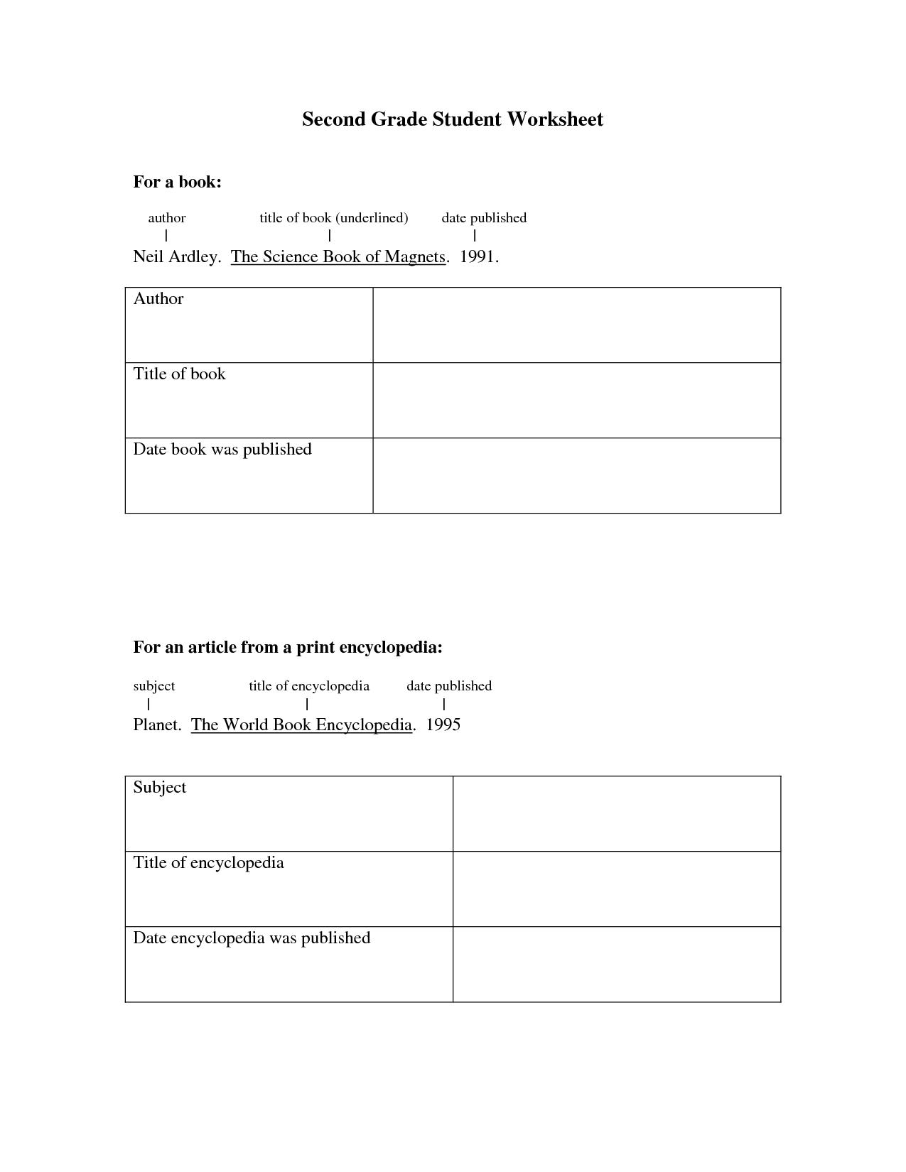 Printable Worksheet For 2nd Grade Social Stu S