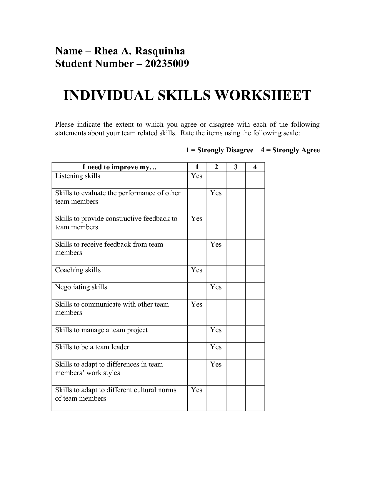 Activity Recovery Plan Worksheet