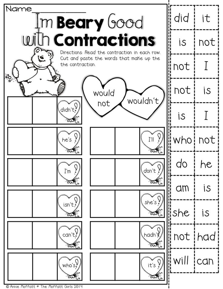 17 Best Images of Second Grade Contraction Worksheets