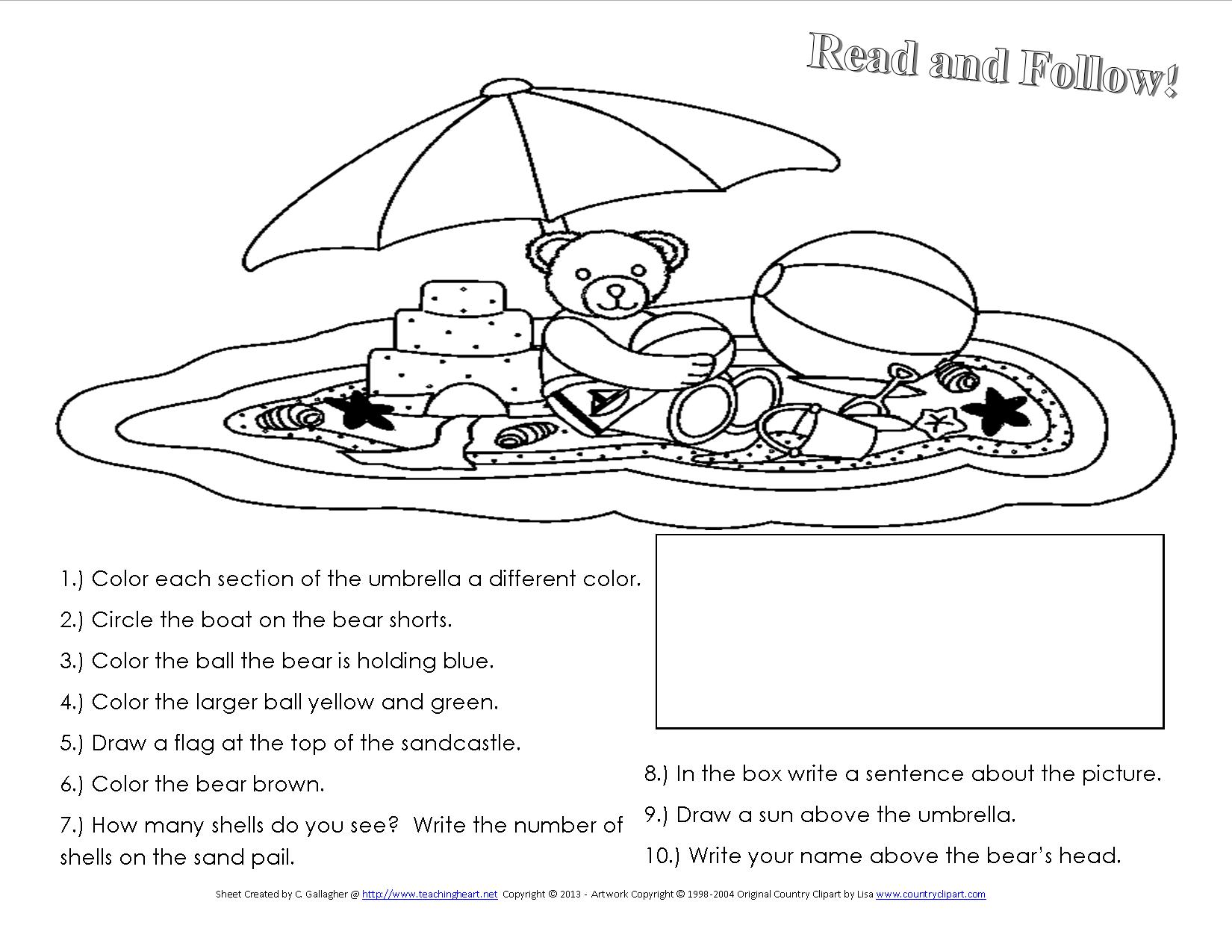 12 Best Images Of Elementary Main Idea Story Worksheets