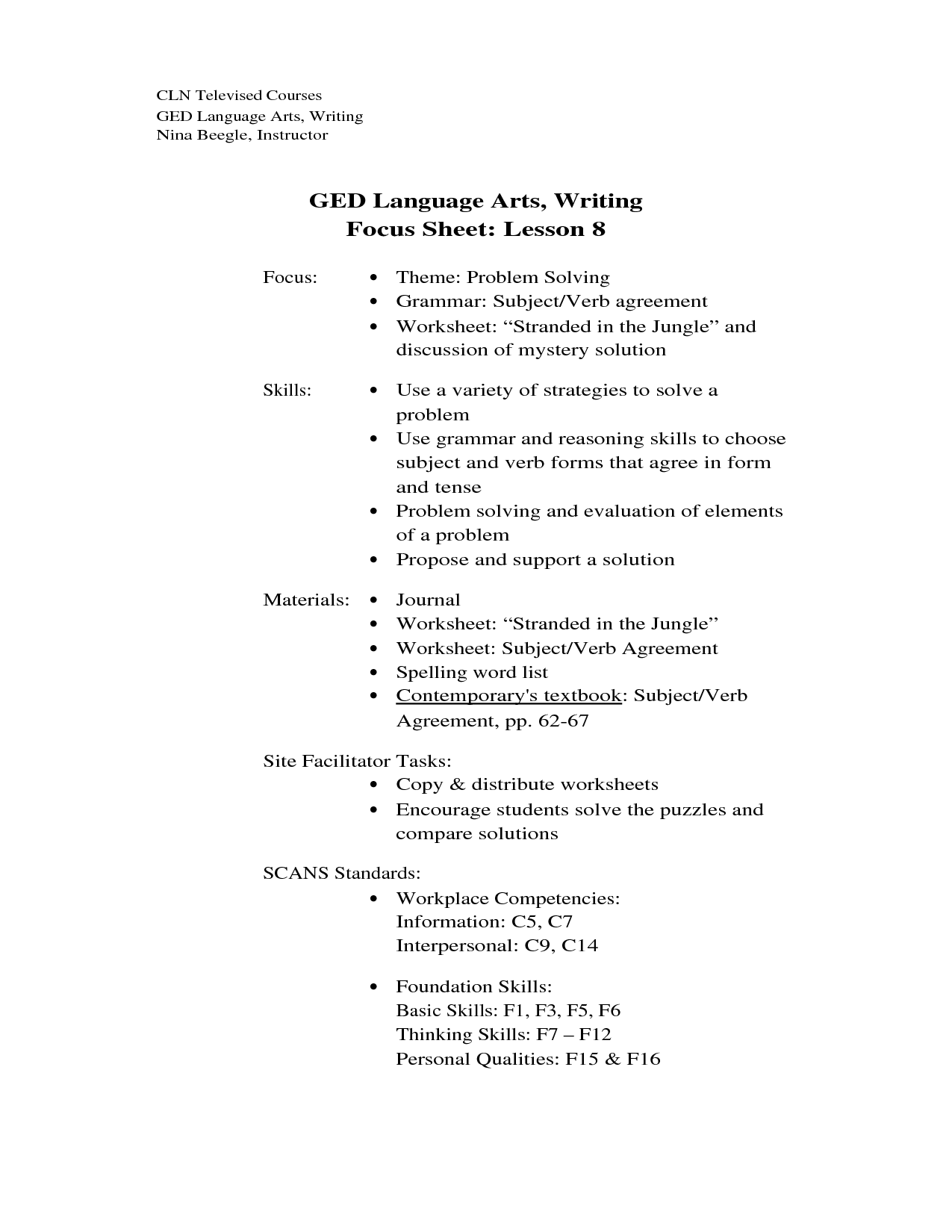 13 Best Images Of Ged Science Printable Worksheets