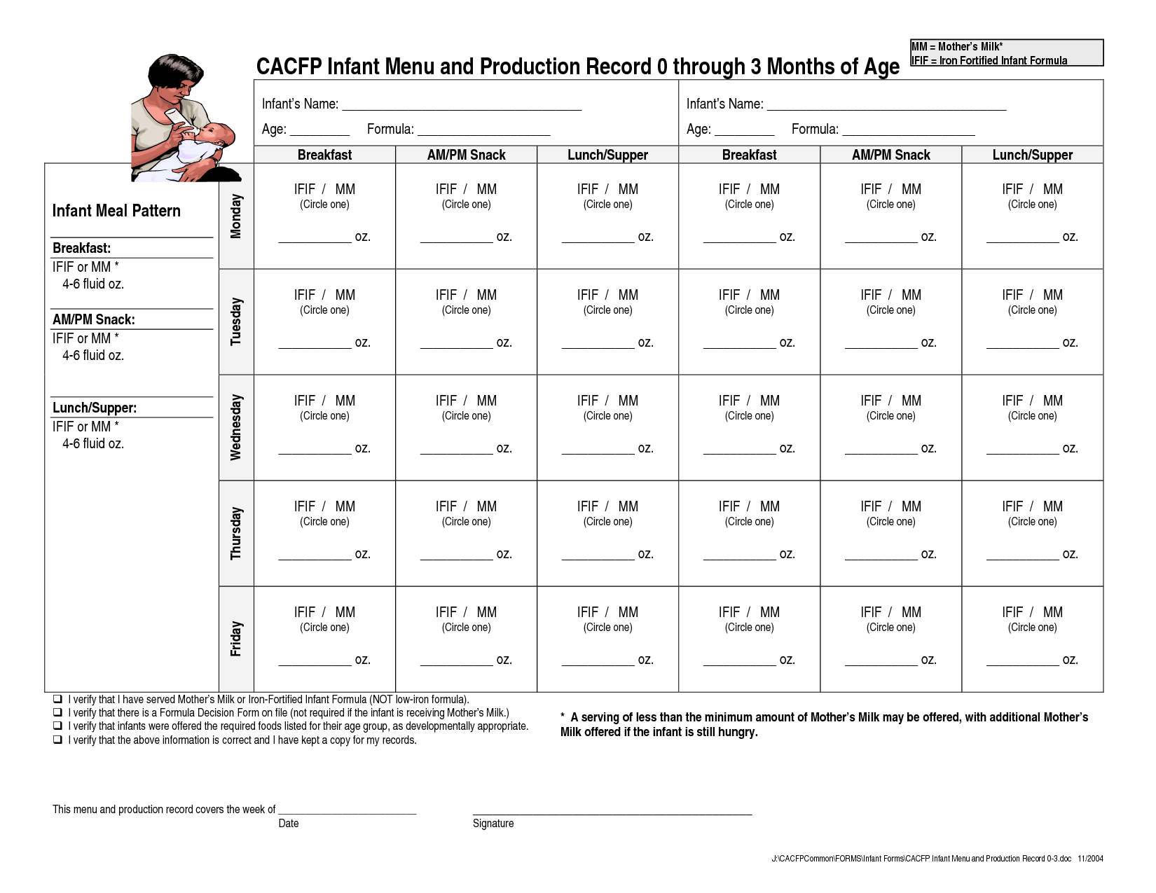 Production Planning Worksheet