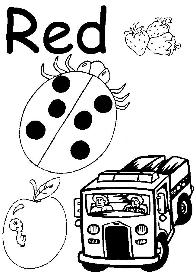 13 Best Images of Kindergarten Color Worksheets For