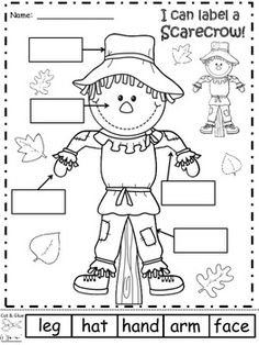 5 Best Images of Free Printable Scarecrow Worksheets