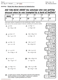 Math Worksheets Substitution Method - 1000 ideas about ...