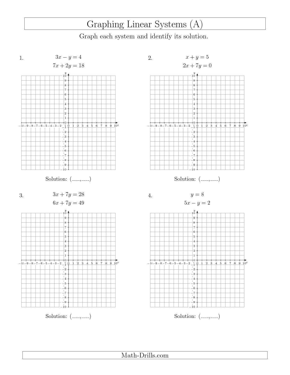 14 Best Images Of Solving Systems Of Equations Worksheets