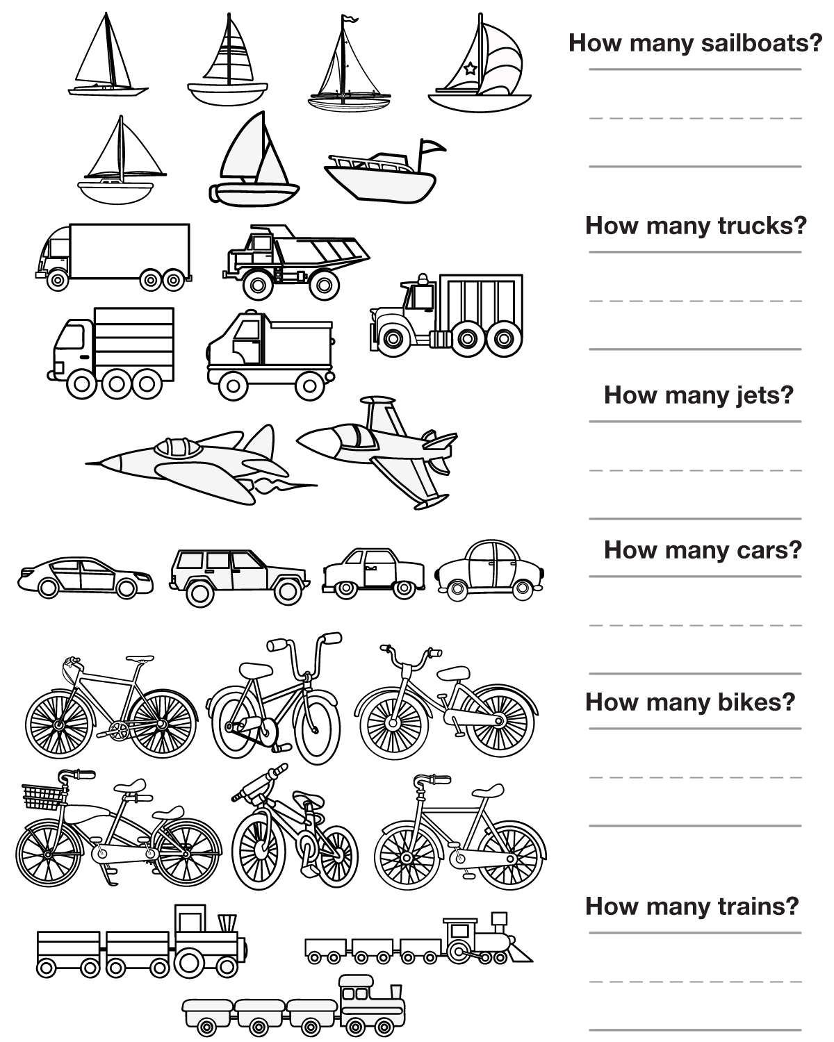 14 Best Images of Worksheets Transportation Matching