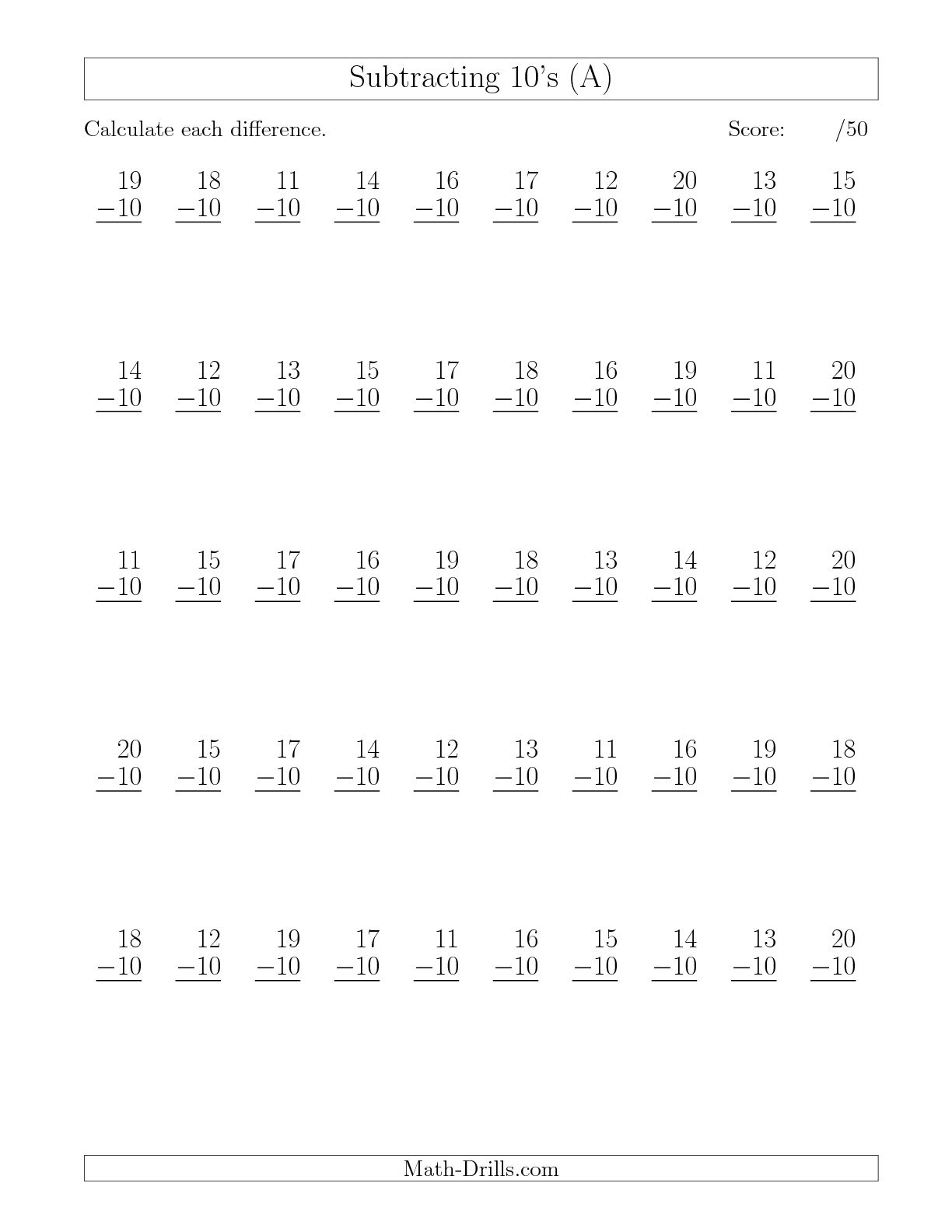 18 Best Images Of 50 Addition Facts Worksheet
