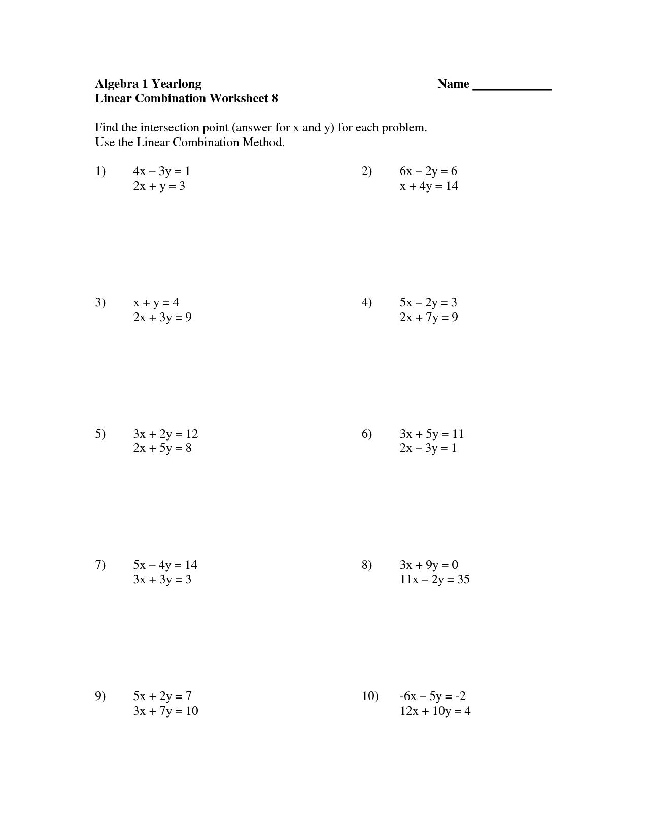 7 Best Images Of Worksheets Pre Algebra Puzzle