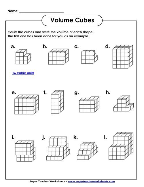 small resolution of Unit Cubes Volume Worksheet   Printable Worksheets and Activities for  Teachers