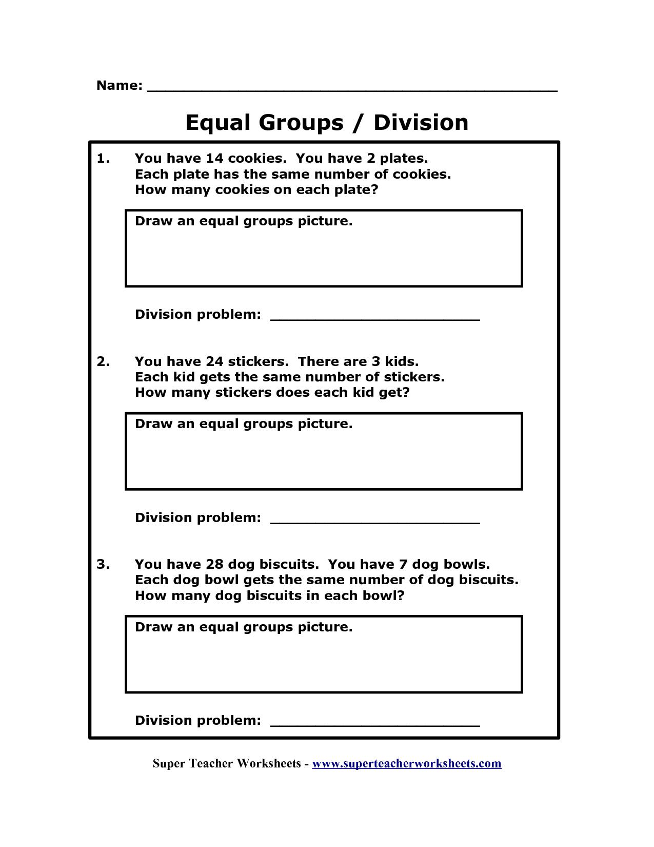 8 Best Images Of Equal Groups Math Worksheets