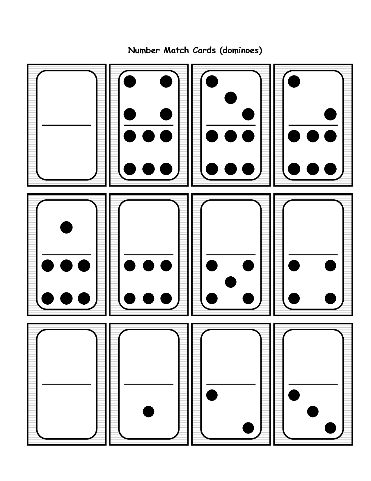 14 Best Images Of Printable Domino Worksheets