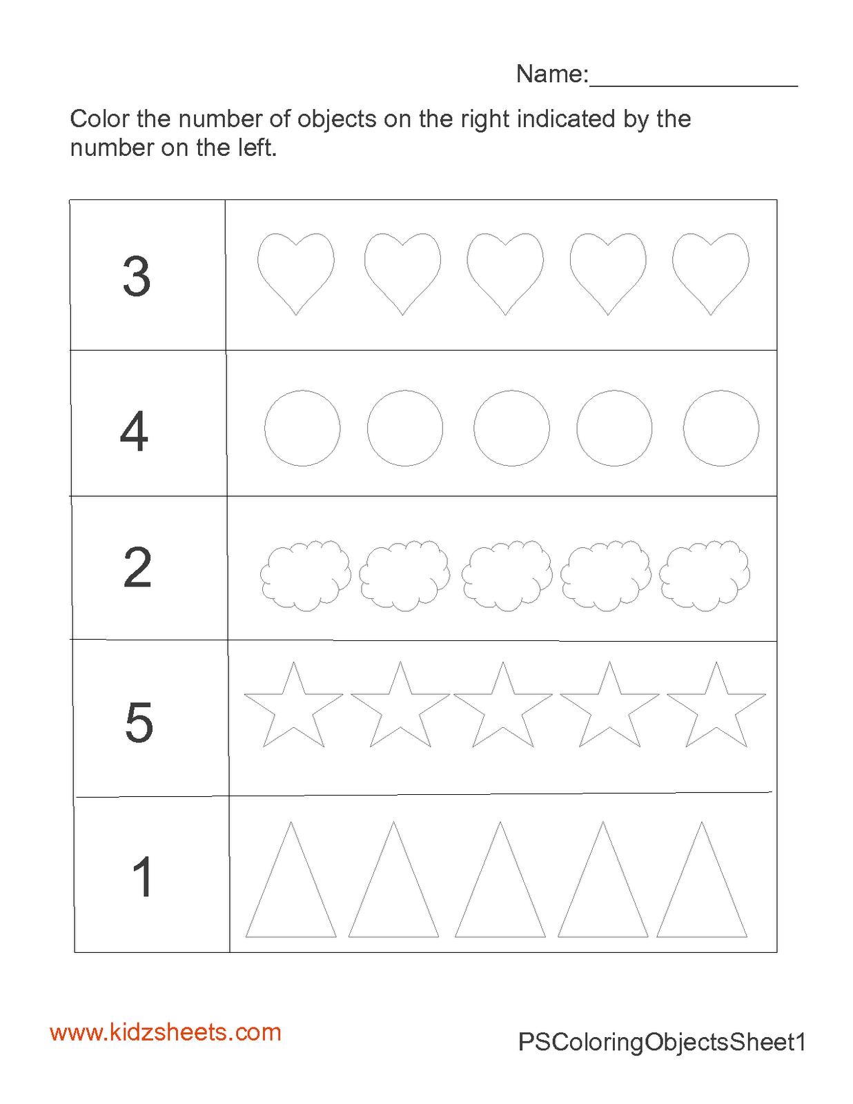 13 Best Images Of Kindergarten Math Number Words