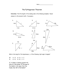 9 Best Images of Pythagorean Theorem Word Problems ...