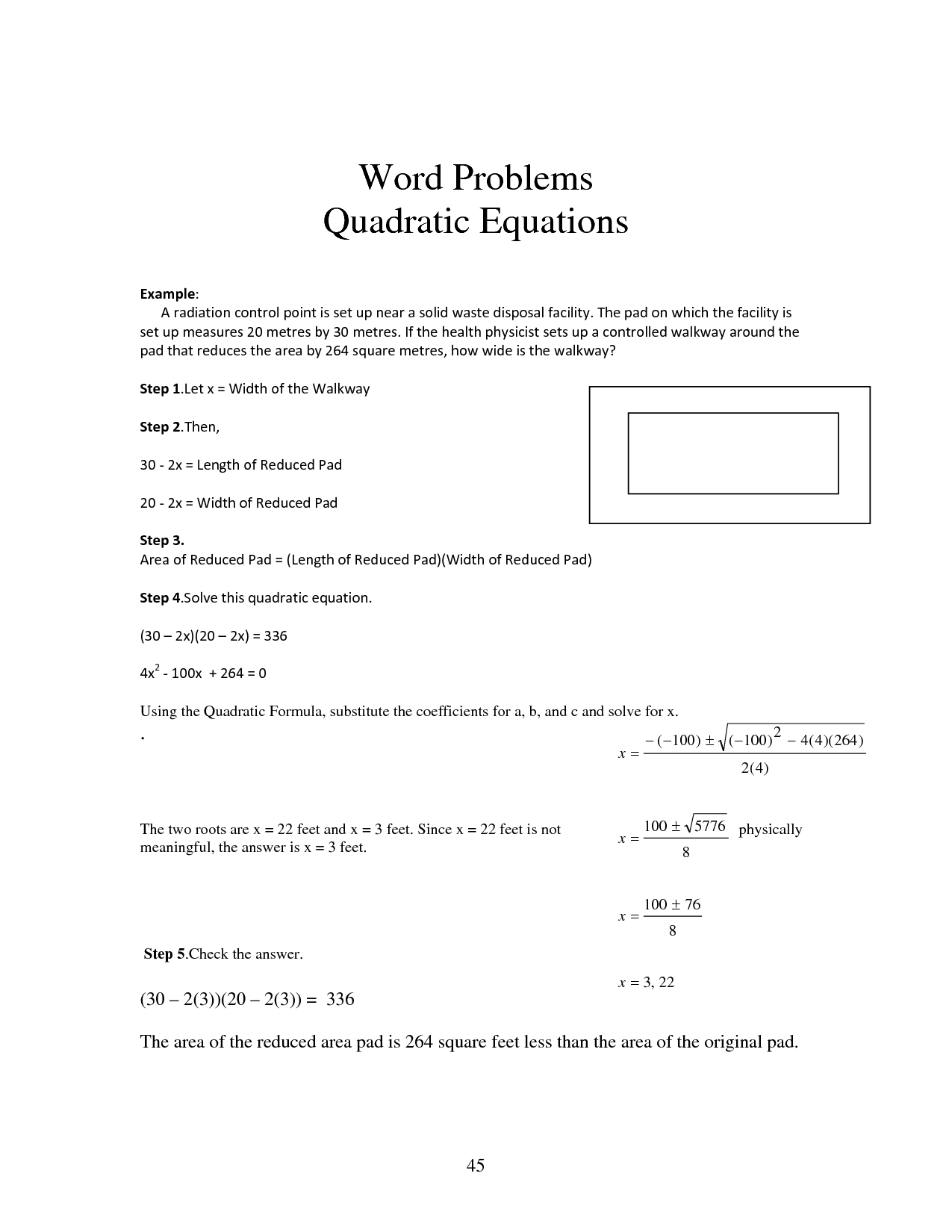 Quadratic Formula Practice Worksheet With Answers