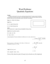 14 Best Images of Quadratic Formula Problems Worksheet