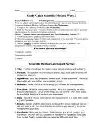 17 Best Images of Middle School Science Worksheets PDF ...