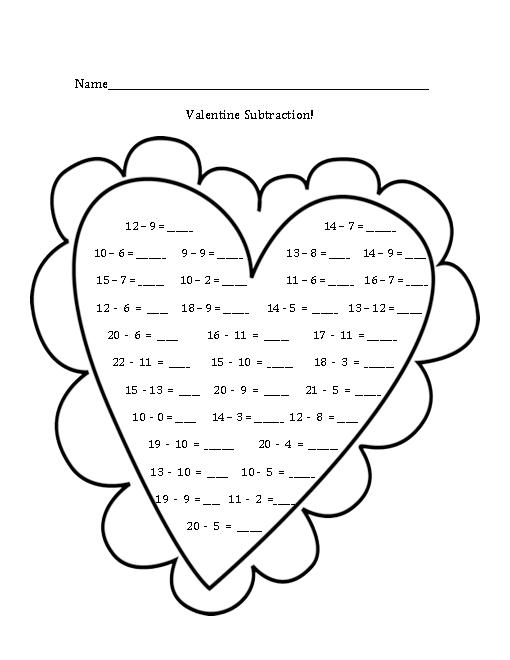 16 Best Images of Valentine's Day Math Worksheets