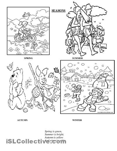 18 Best Images of 4 Seasons Worksheets Printable Sort